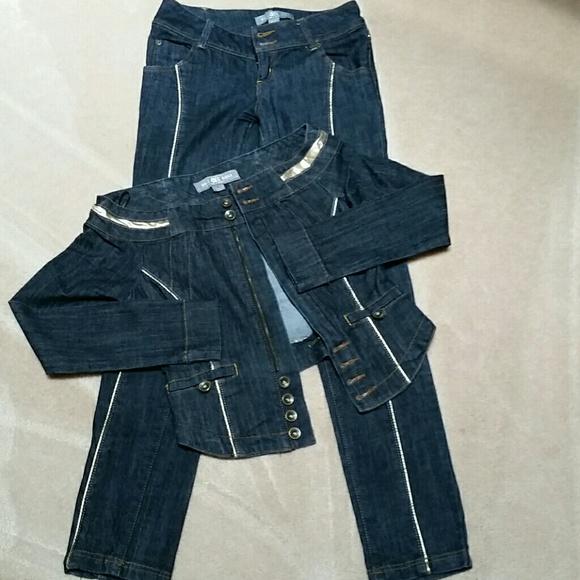 Boom Boom Jeans Denim - Jeans Outfit , jeans sz 1, jacket sz s